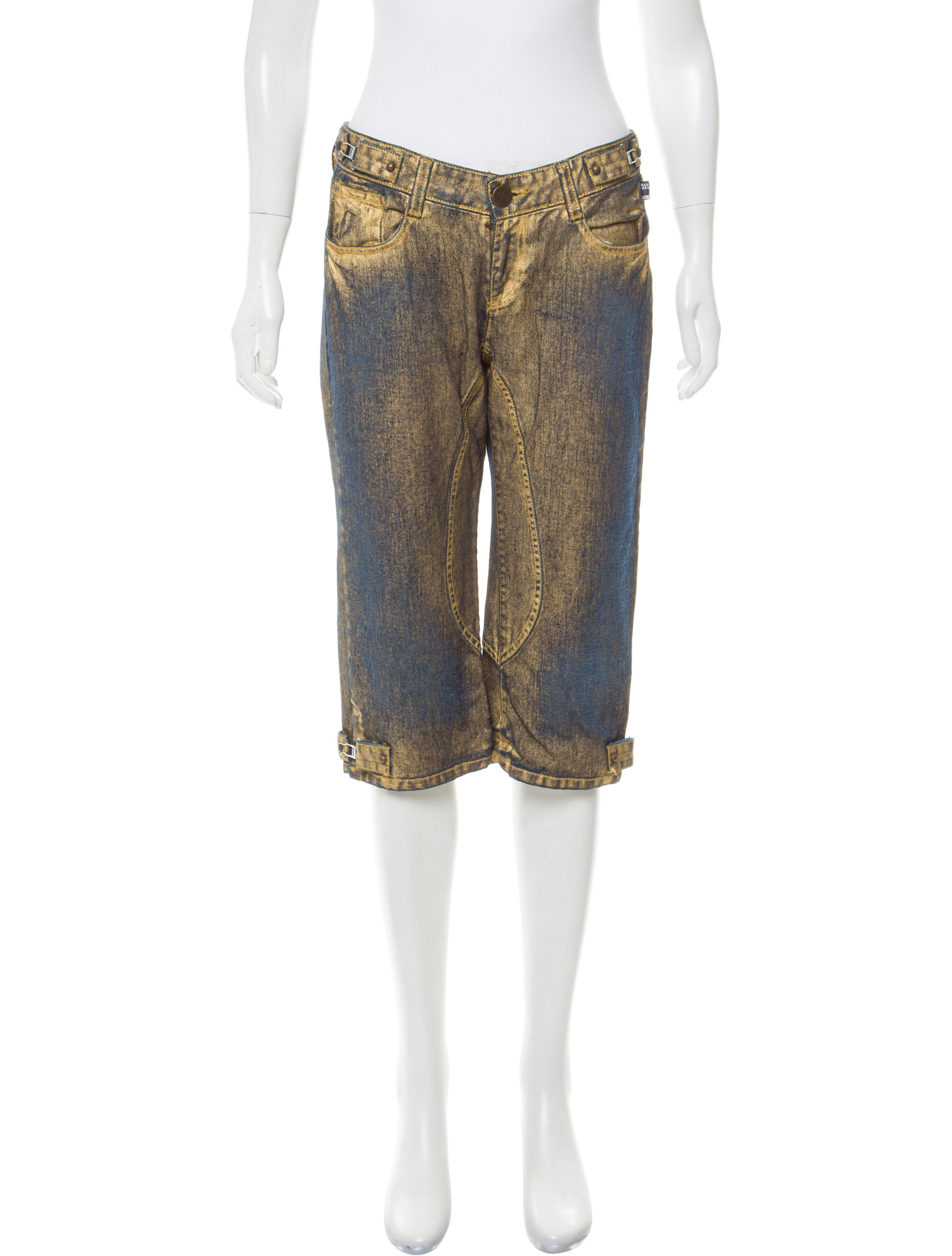 Jean paul gaultier mid rise denim culottes clothing for Jean paul gaultier clothing