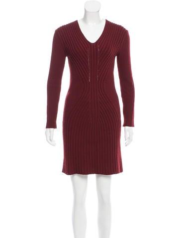 Jean Paul Gaultier Rib Knit Wool Dress None
