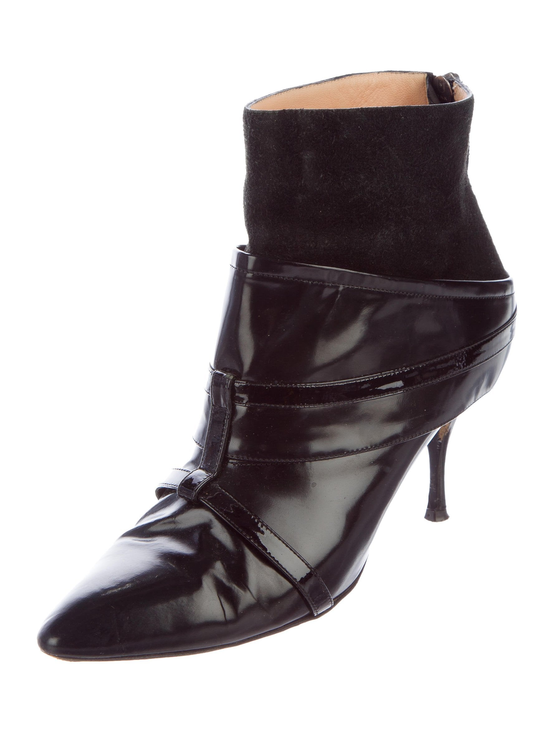 Jean Paul Gaultier Pointed-Toe Leather Ankle Boots discount 2014 free shipping best store to get I6oPf9