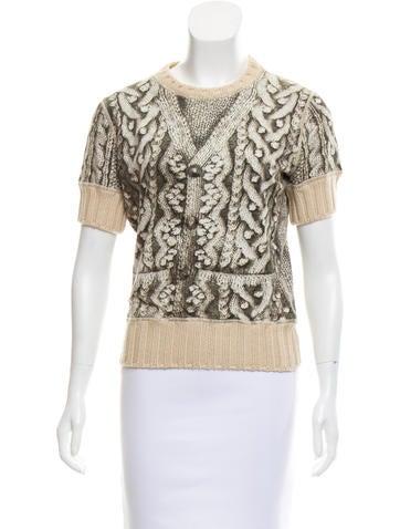 Jean Paul Gaultier Wool-Trimmed Trompe L'oeil Top None