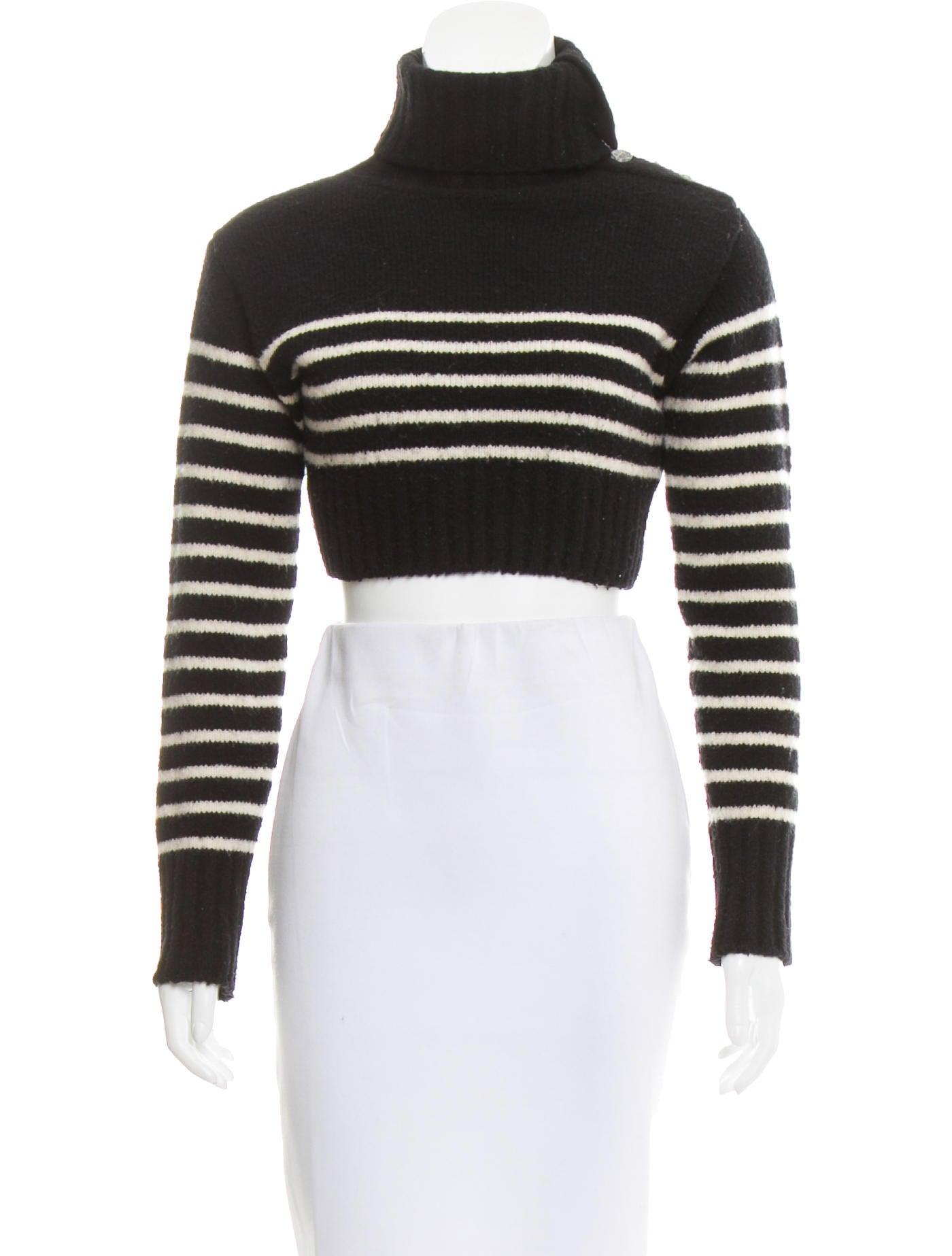 Jean Paul Gaultier Cropped Turtleneck Sweater Clothing Jea28366