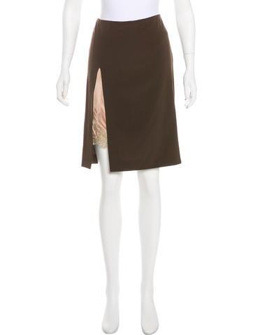 Jean Paul Gaultier Wool Knee-Length Skirt None