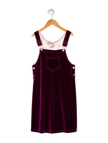 Jean Paul Gaultier Girls' Velvet Sleeveless Dress None