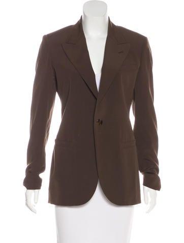 Jean Paul Gaultier Virgin Wool Peak-Lapel Blazer None