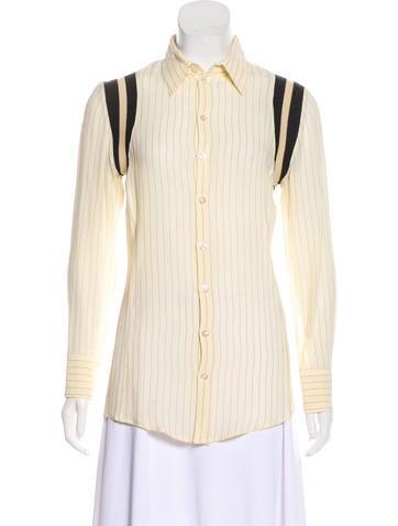 Jean Paul Gaultier Striped Button-Up Top None