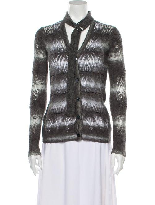 Jean Paul Gaultier Striped Sweater Grey
