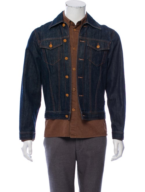 Jean Paul Gaultier Layered Denim Jacket blue
