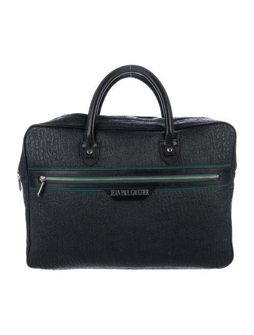 Jean Paul Gaultier Leather Weekender Bag Green