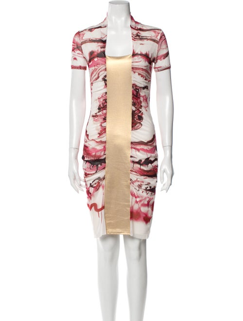 Jean Paul Gaultier Printed Knee-Length Dress Pink