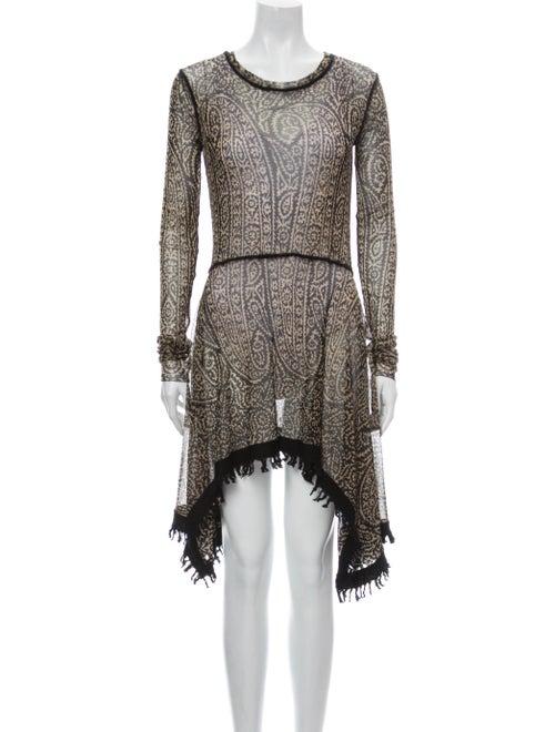Jean Paul Gaultier Paisley Print Mini Dress