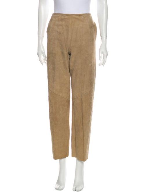 Jean Muir Suede Wide Leg Pants