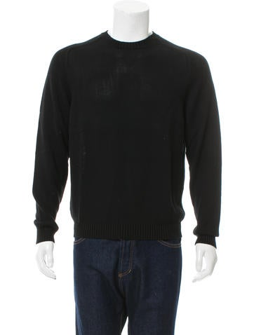 Jeffrey Rüdes Crew Neck Rib Knit-Trimmed Sweater w/ Tags None