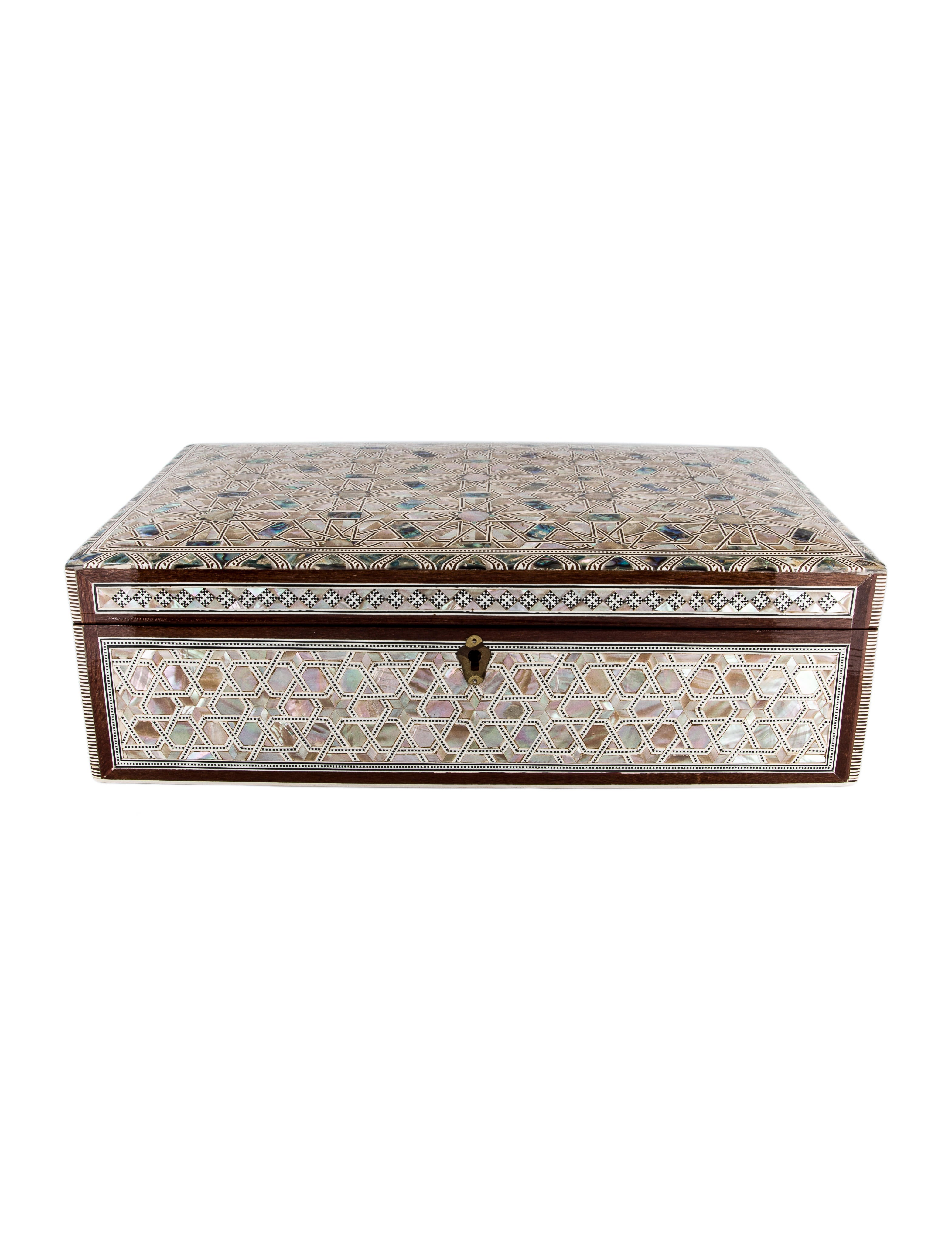 Mother Of Pearl Jewelry Box Decor And Accessories
