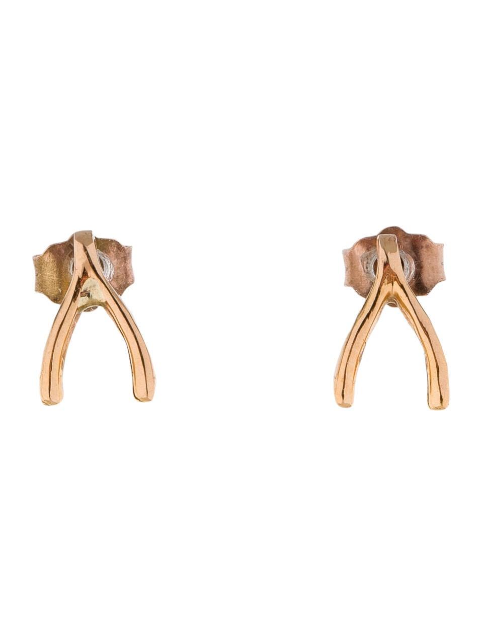 Jennifer Meyer Wishbone Earrings