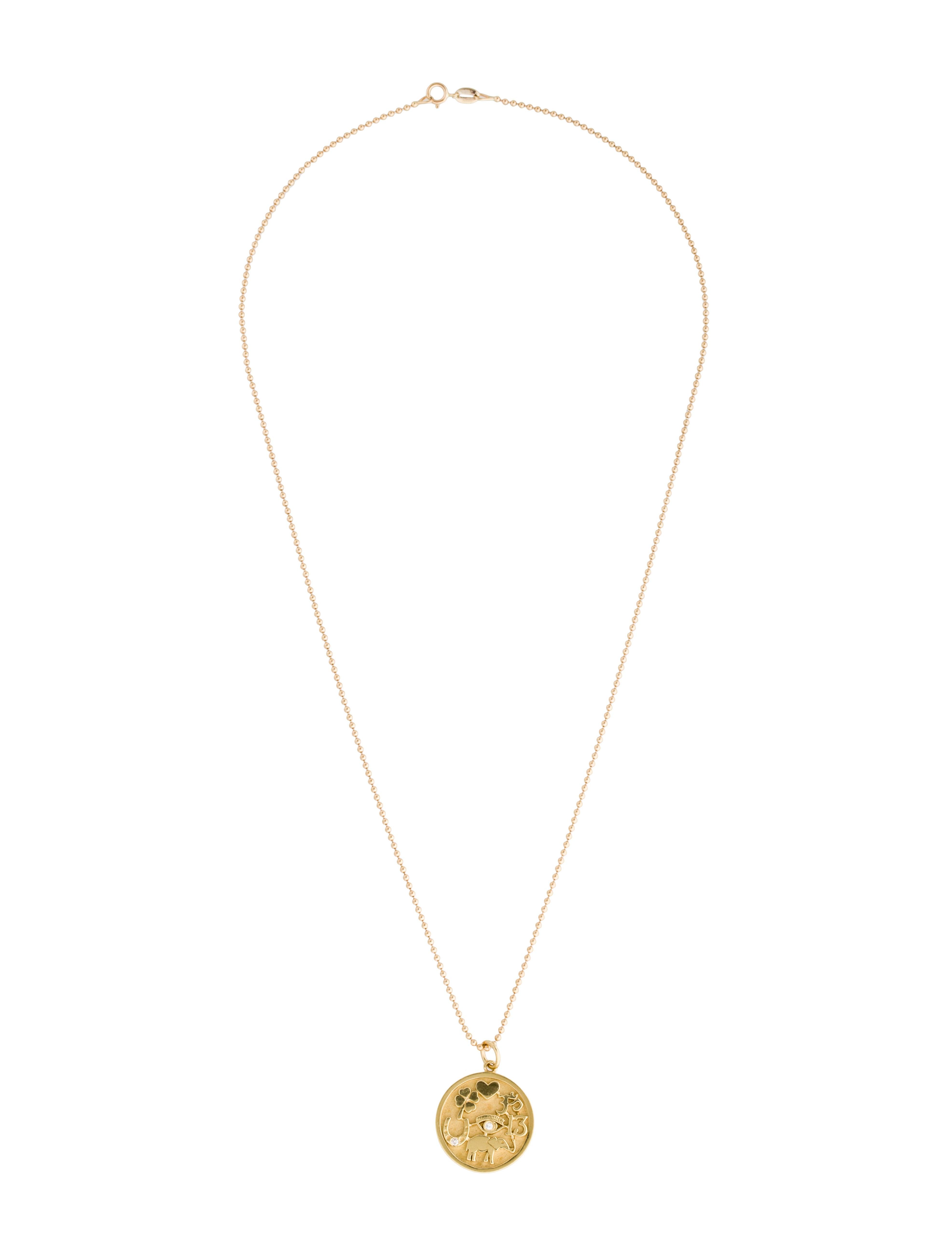 Jennifer Meyer Good Luck Charm Necklace Necklaces JEM