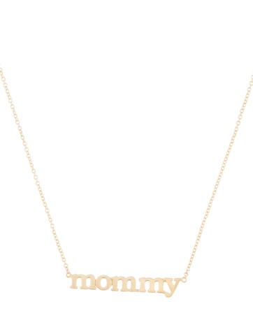 Jennifer meyer 18k mommy pendant necklace necklaces jem20305 18k mommy pendant necklace aloadofball Image collections