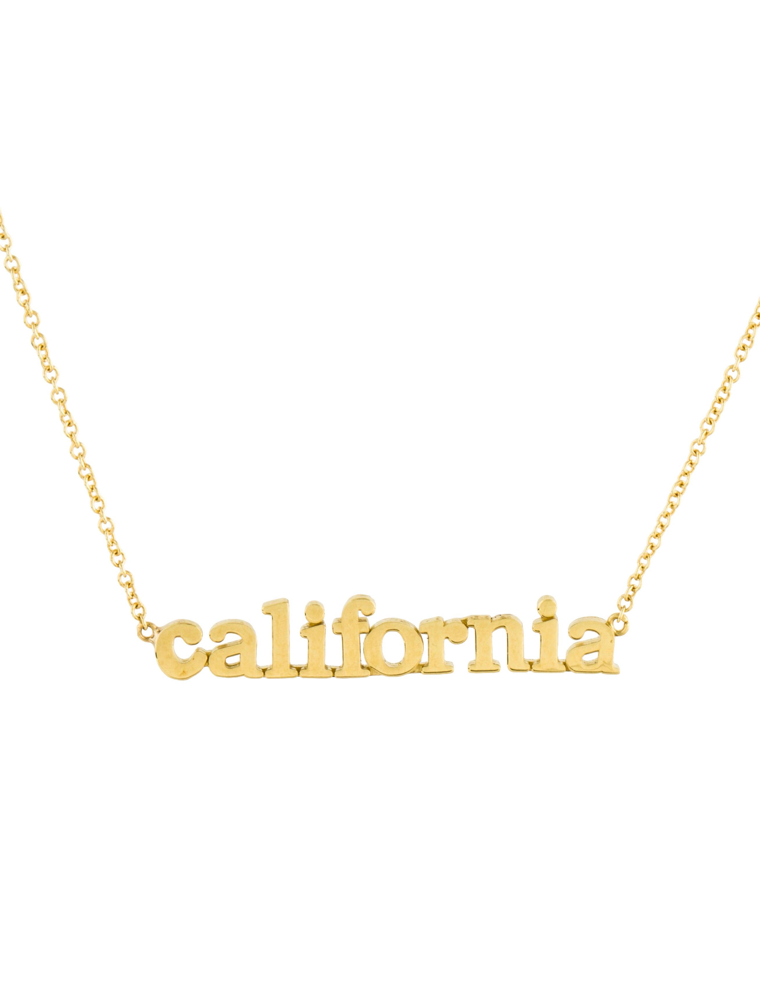 Jennifer meyer 18k california pendant necklace necklaces 18k california pendant necklace aloadofball Image collections