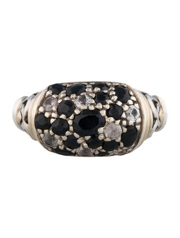 Pave Sapphire Ring