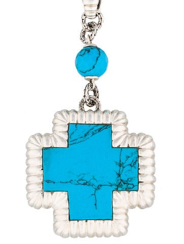 John hardy turquoise cross pendant necklaces jha20878 the realreal turquoise cross pendant aloadofball Images