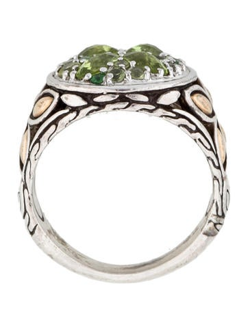 Peridot and Tsavorite Batu Kawung Ring