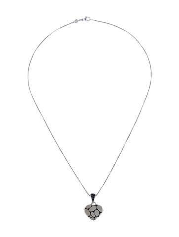 Kali Silver Lava Boxed Heart Pendant Necklace