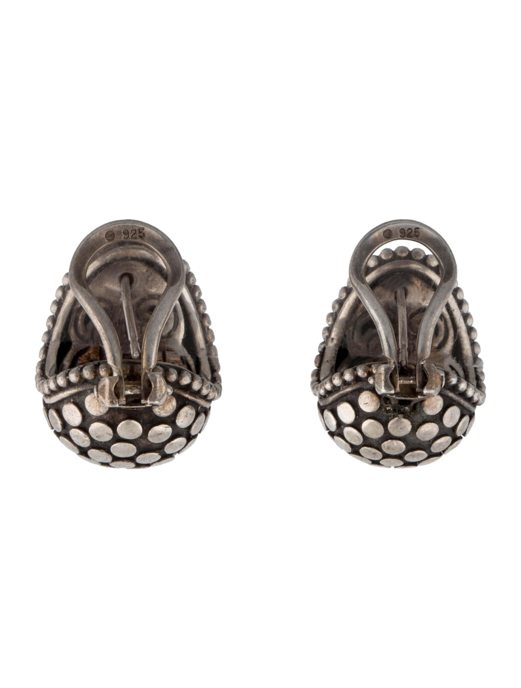 John hardy dot clip on earrings earrings jha22524 for John hardy jewelry earrings