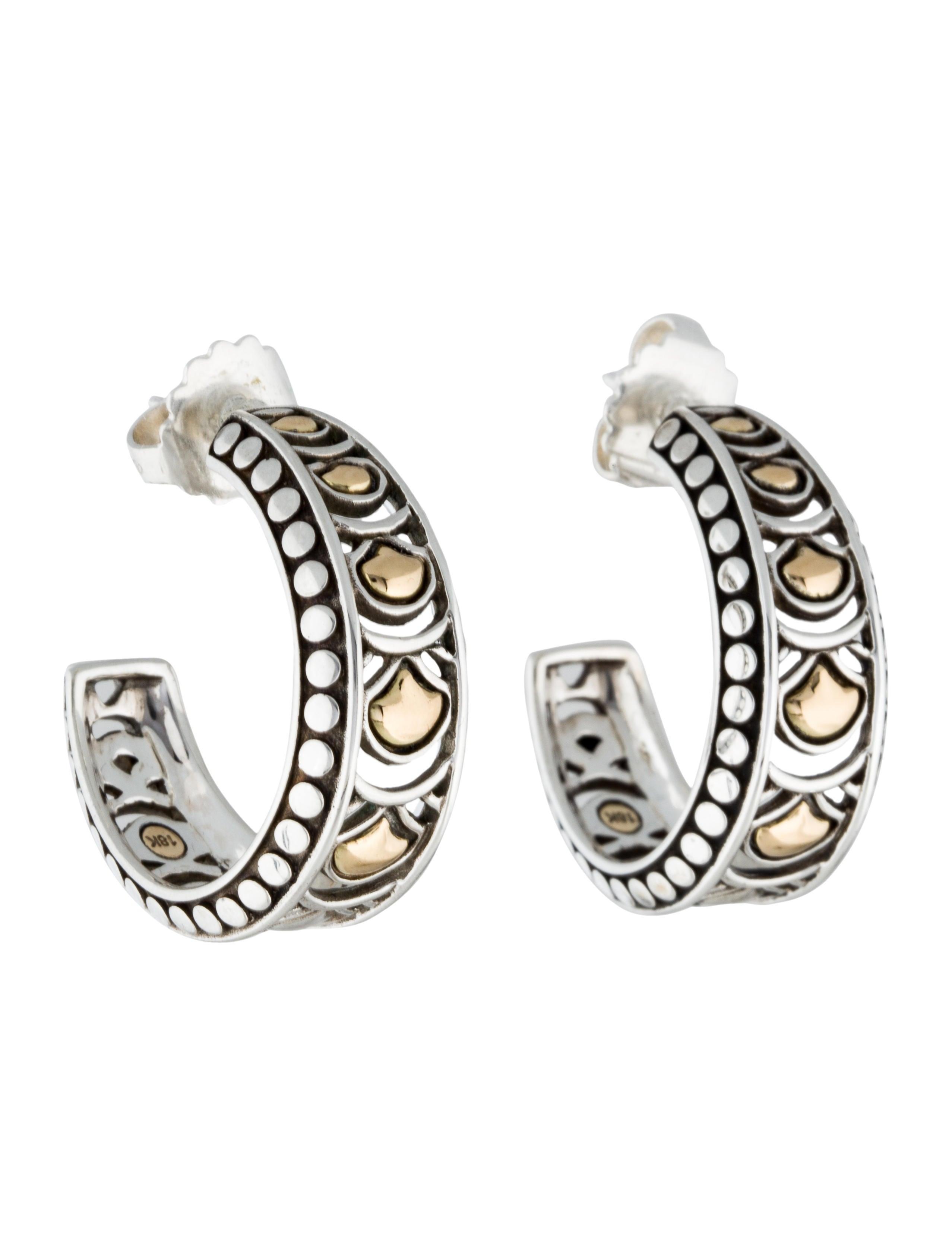 563a52d565642 Two-Tone Legends Naga Small Hoop Earrings