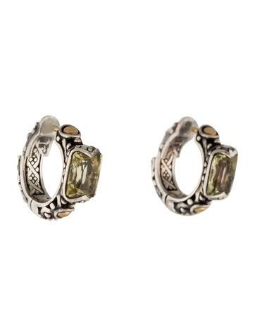 John hardy bi color prasiolite jaisalmer hoop earrings for John hardy jewelry earrings