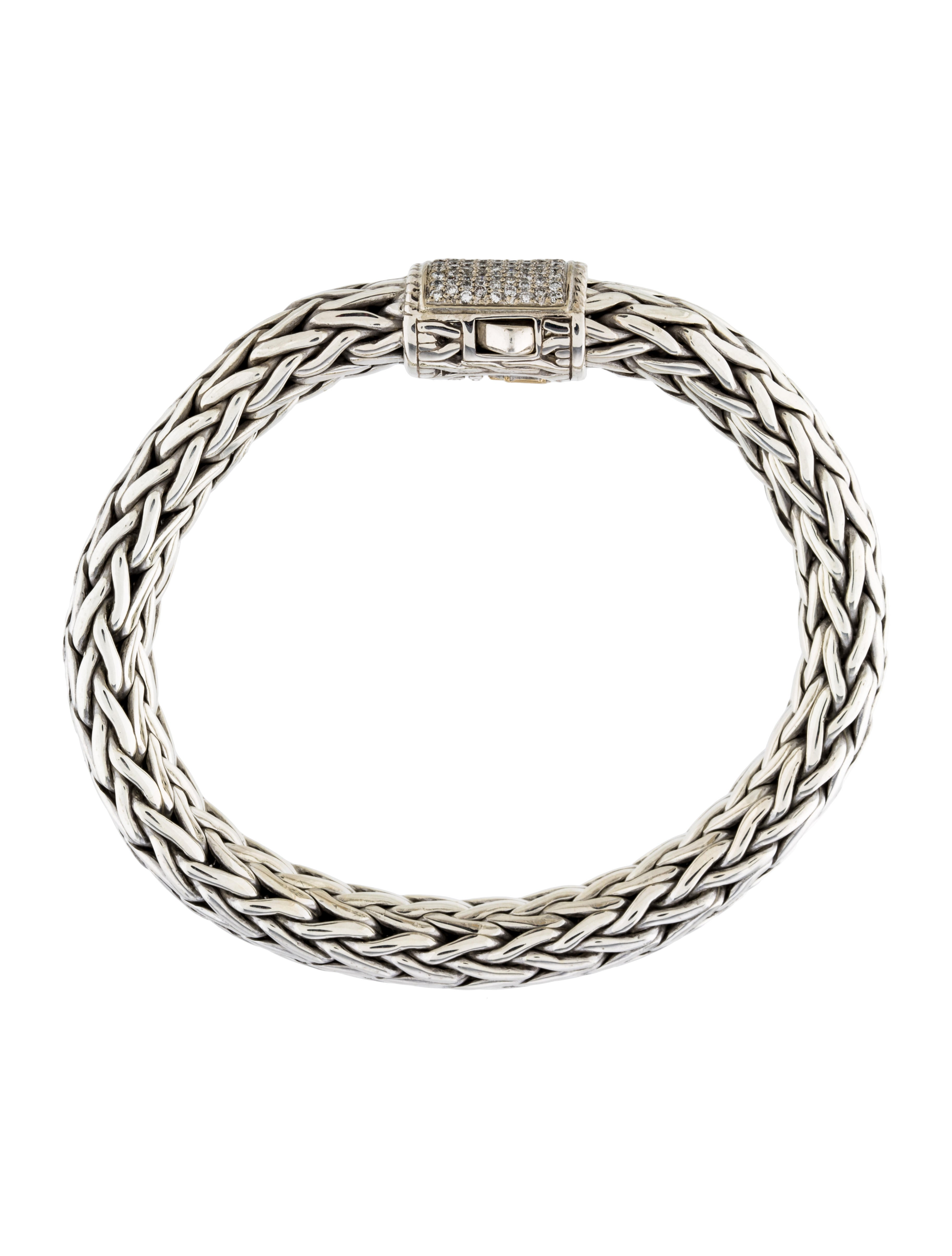 Diamond Anklet With Toe Ring Lc00035 In Anklets From: John Hardy Classic Chain Pavé Diamond Bracelet