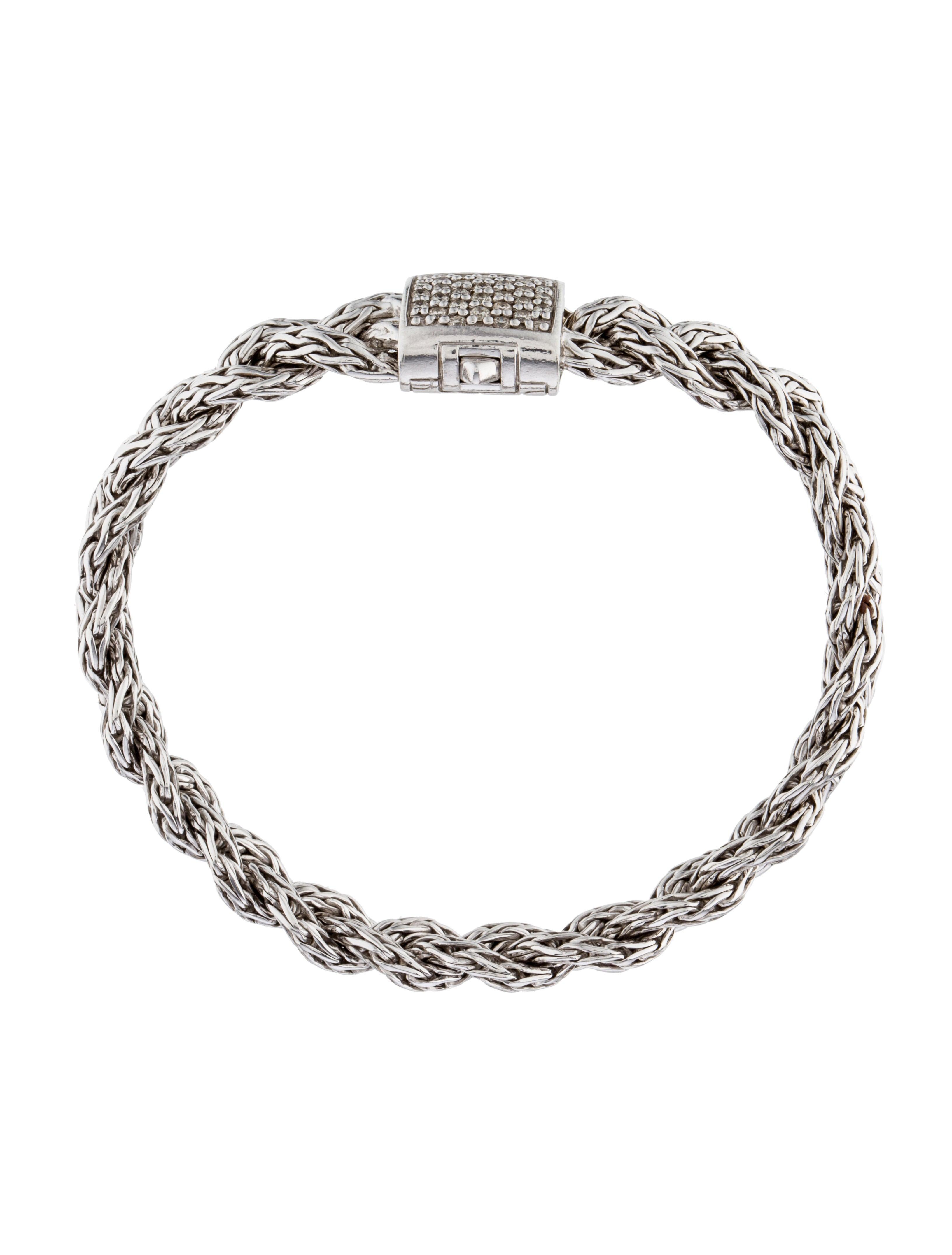 John Hardy Pav 233 Diamond Classic Chain Braided Bracelet