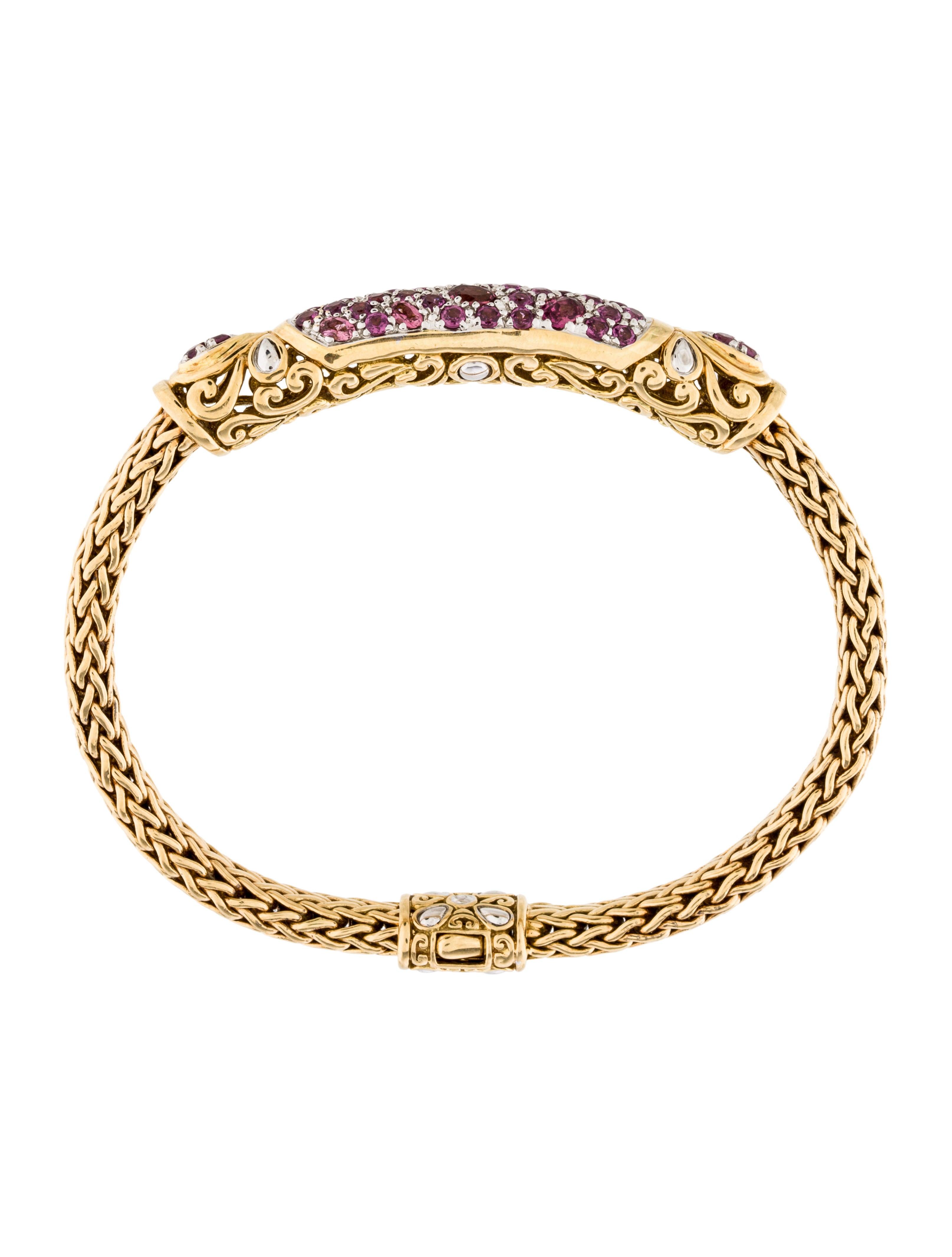 John Hardy Pink Tourmaline Classic Chain Bracelet