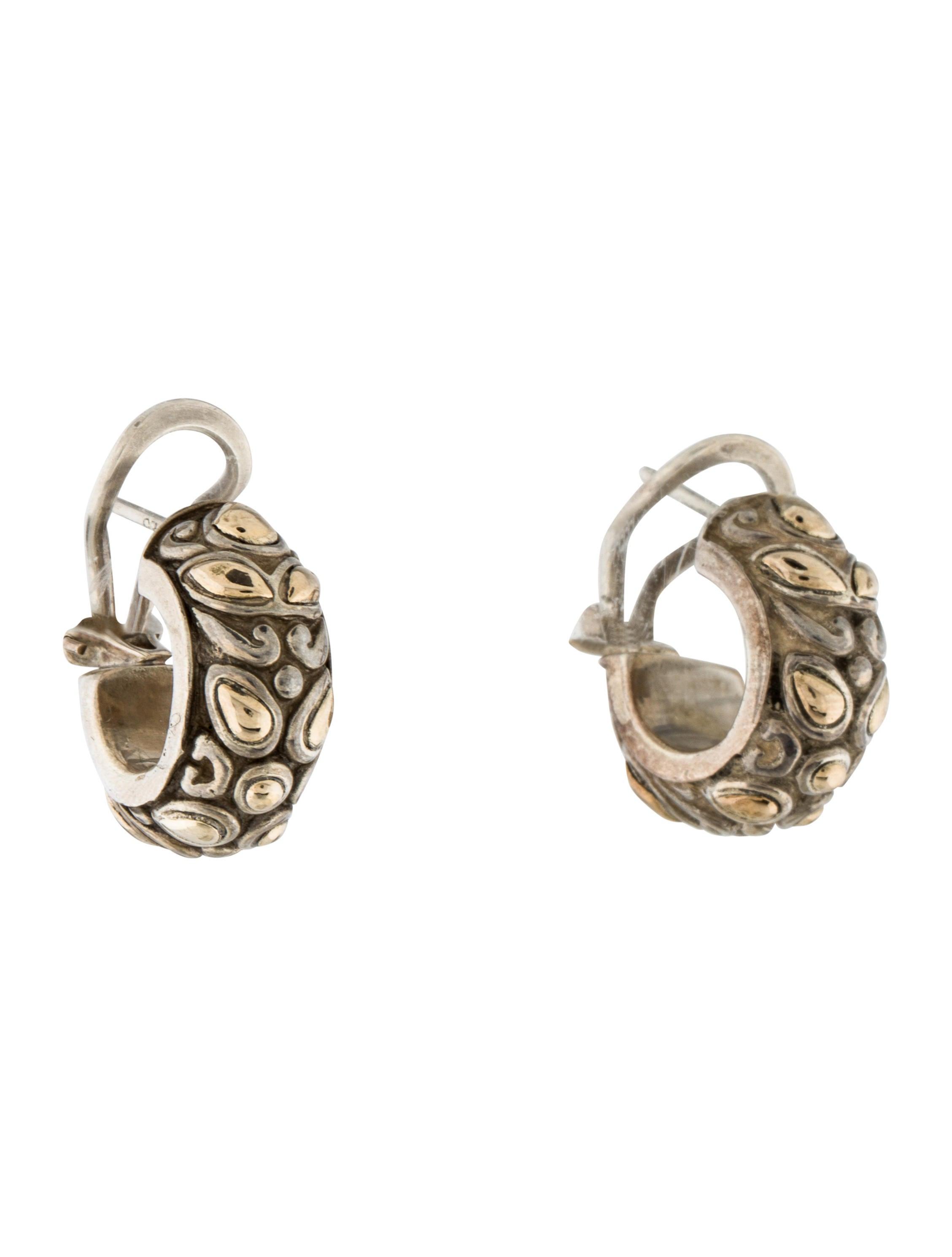 John hardy two tone kawung earrings earrings jha26159 for John hardy jewelry earrings