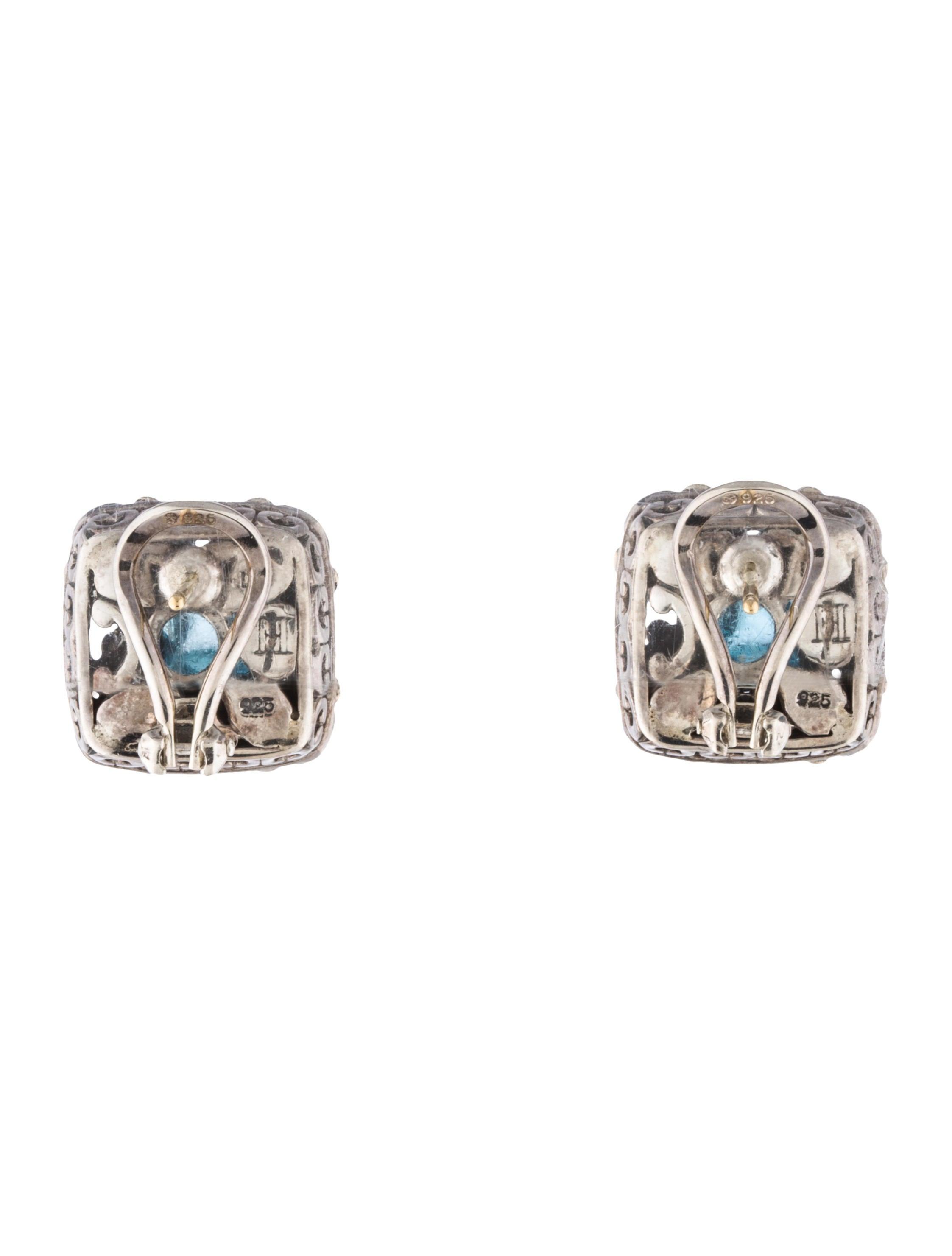 John hardy topaz ear clip earrings earrings jha26267 for John hardy jewelry earrings