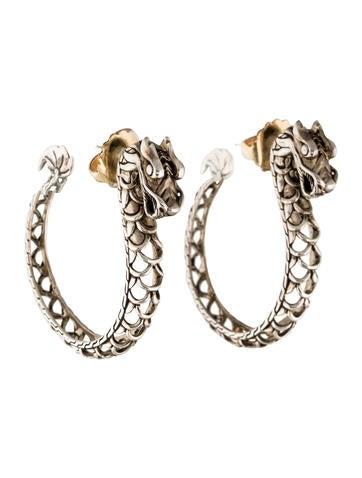 John hardy naga dragon hoop earrings earrings jha26371 for John hardy jewelry earrings