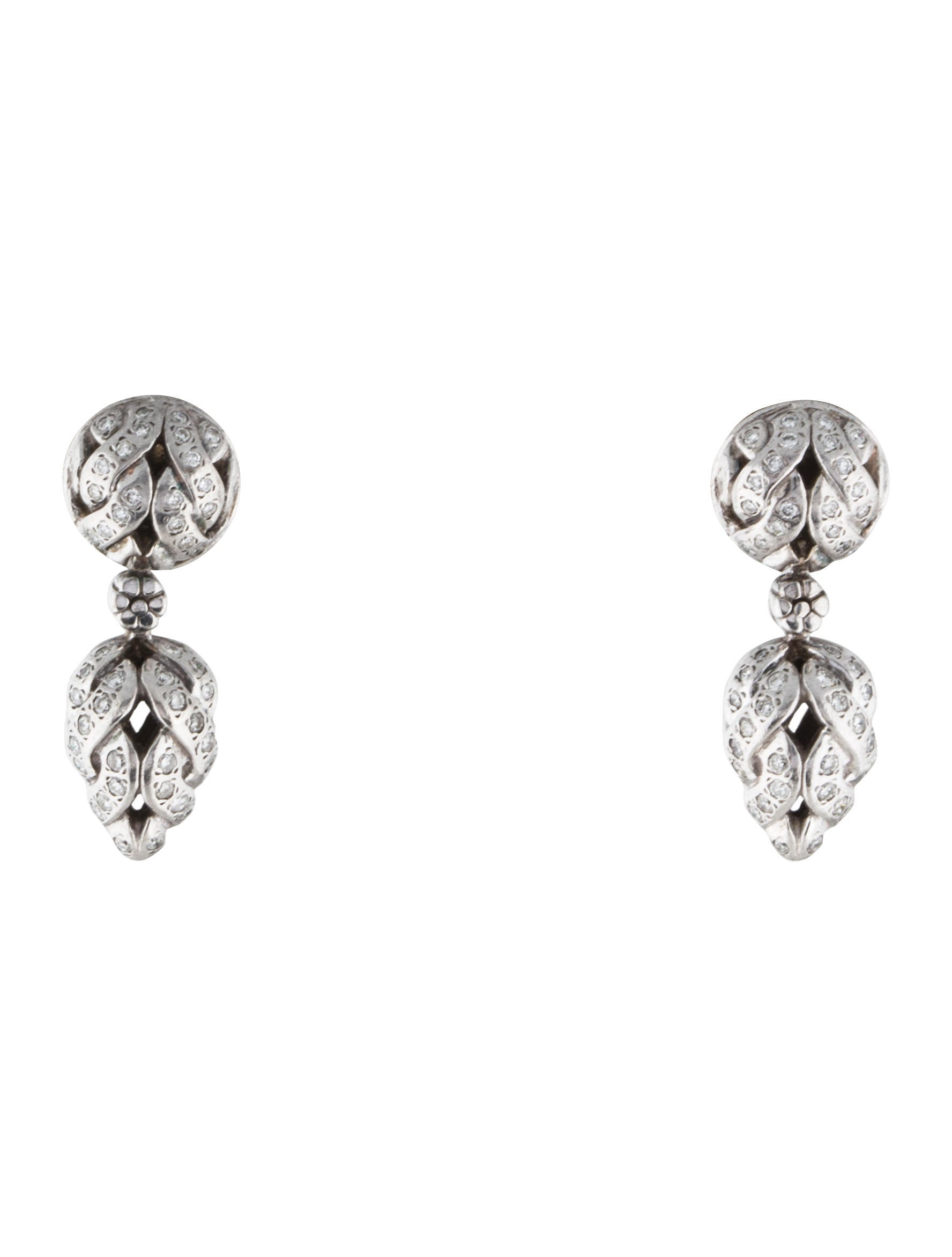 John hardy diamond drop earrings earrings jha26436 for John hardy jewelry earrings