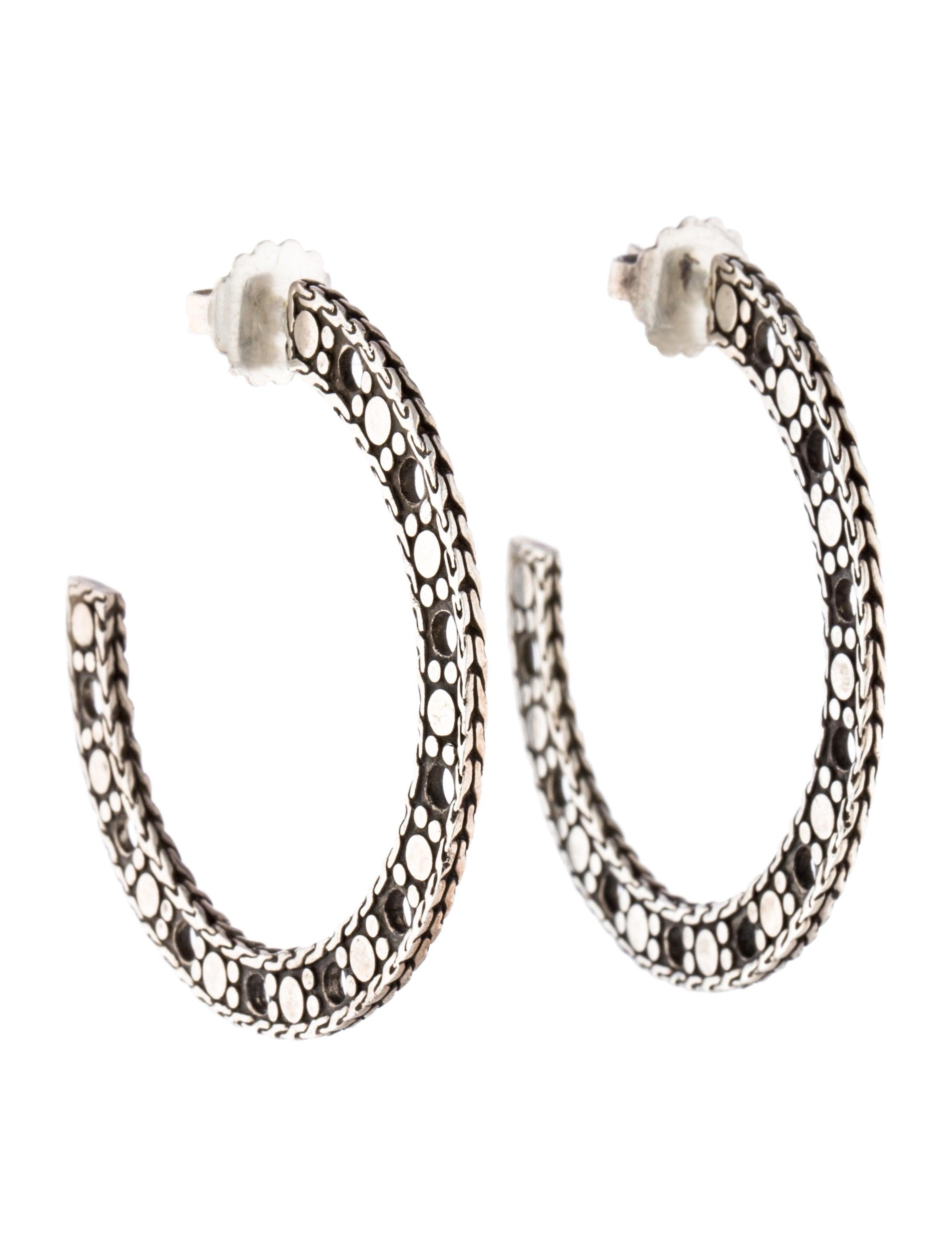 John hardy flat dot hoop earrings earrings jha26444 for John hardy jewelry earrings