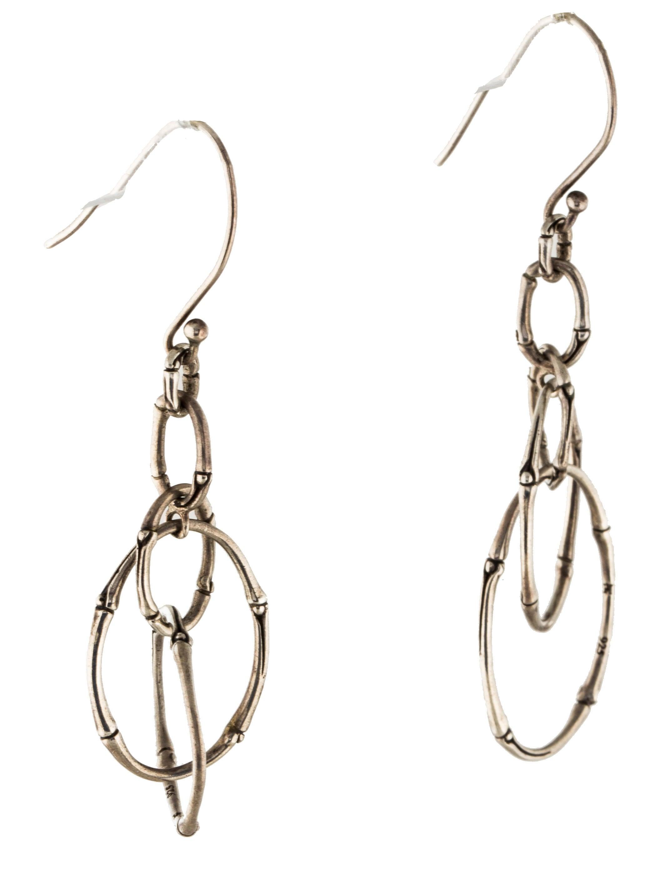 John hardy bamboo oval drop earrings earrings jha26575 for John hardy jewelry earrings