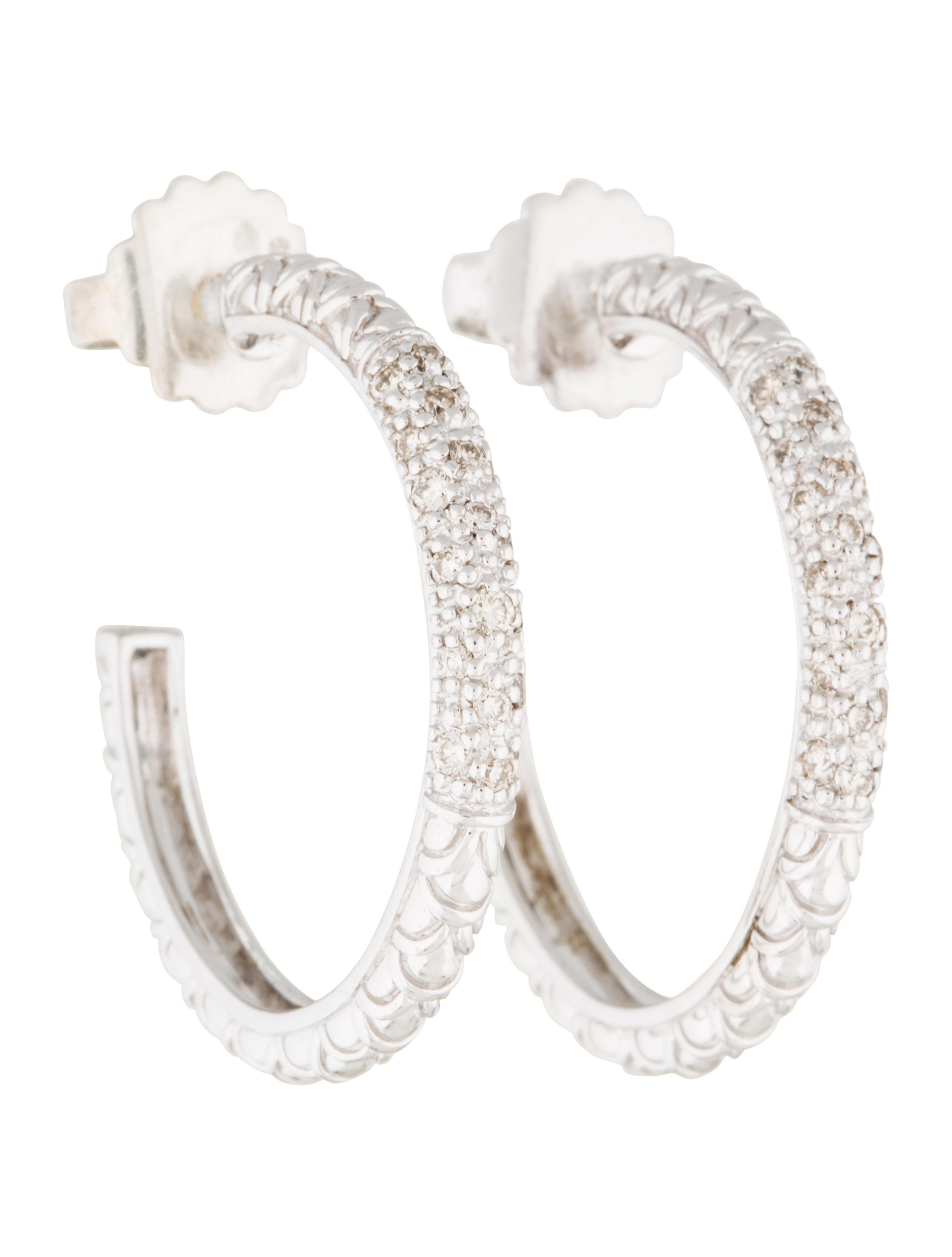 John hardy diamond naga hoop earrings earrings for John hardy jewelry earrings
