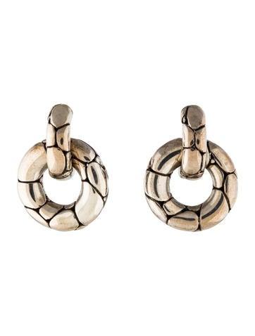 John hardy kali pebble door knocker earrings earrings for John hardy jewelry earrings