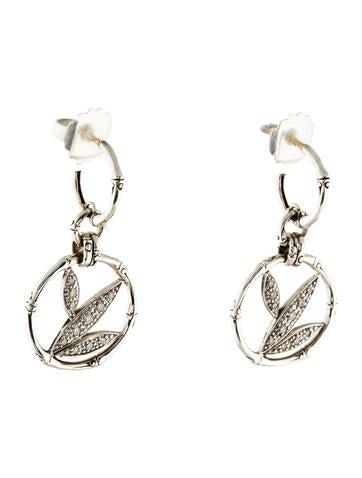 John hardy diamond bamboo drop earrings earrings for John hardy jewelry earrings