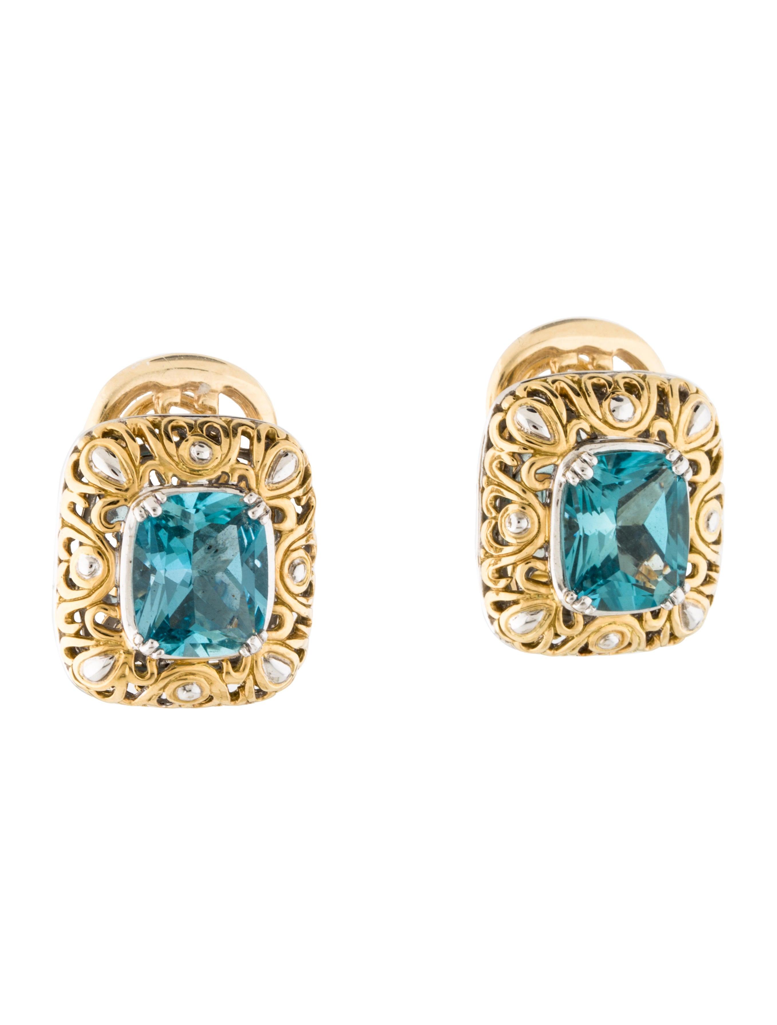 john hardy 18k blue topaz earrings earrings jha26898. Black Bedroom Furniture Sets. Home Design Ideas