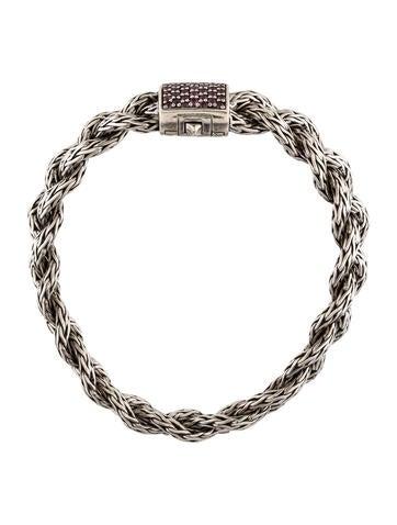 John Hardy Pink Sapphire Braided Chain Bracelet ...