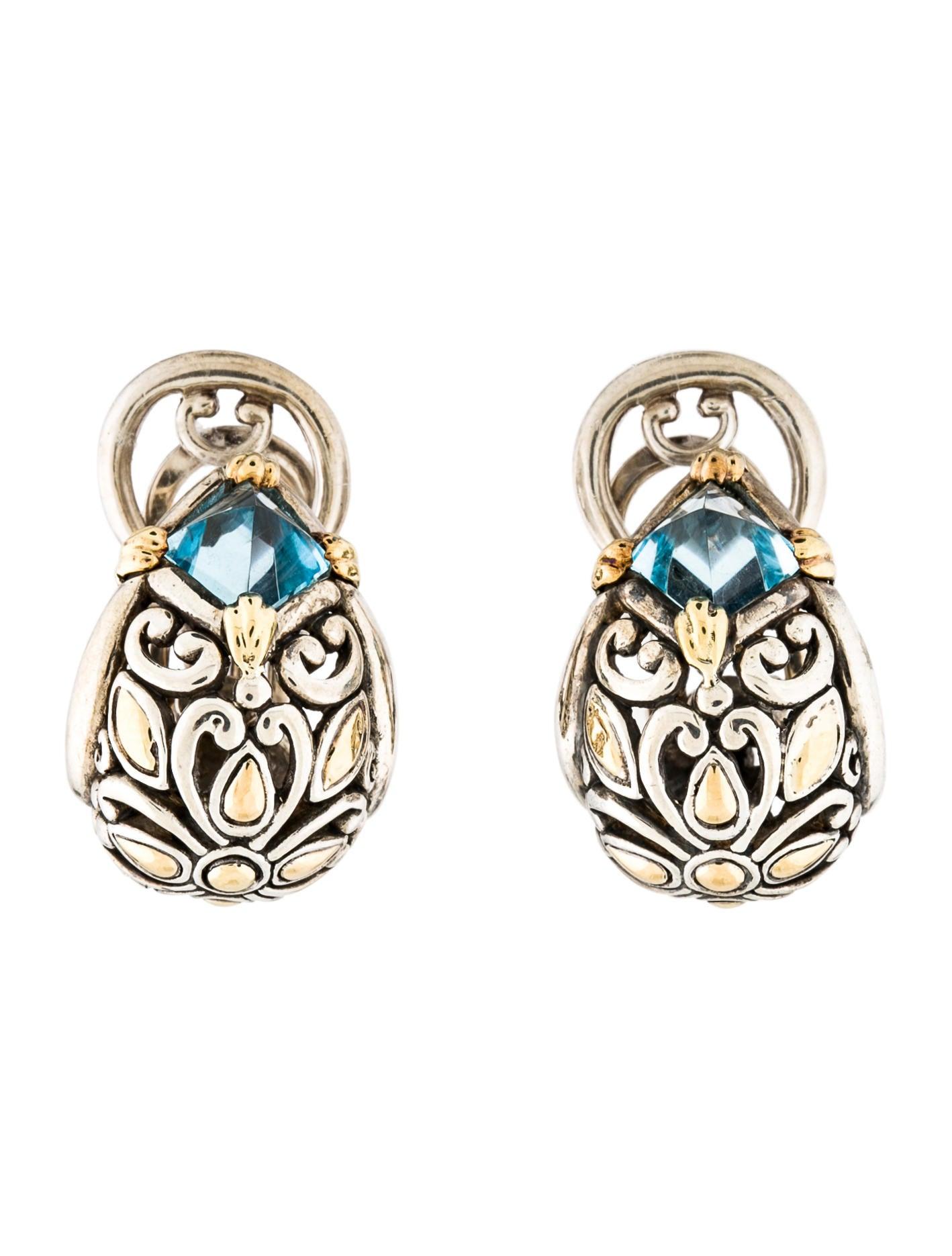 John hardy topaz hoop earrings earrings jha27004 the for John hardy jewelry earrings