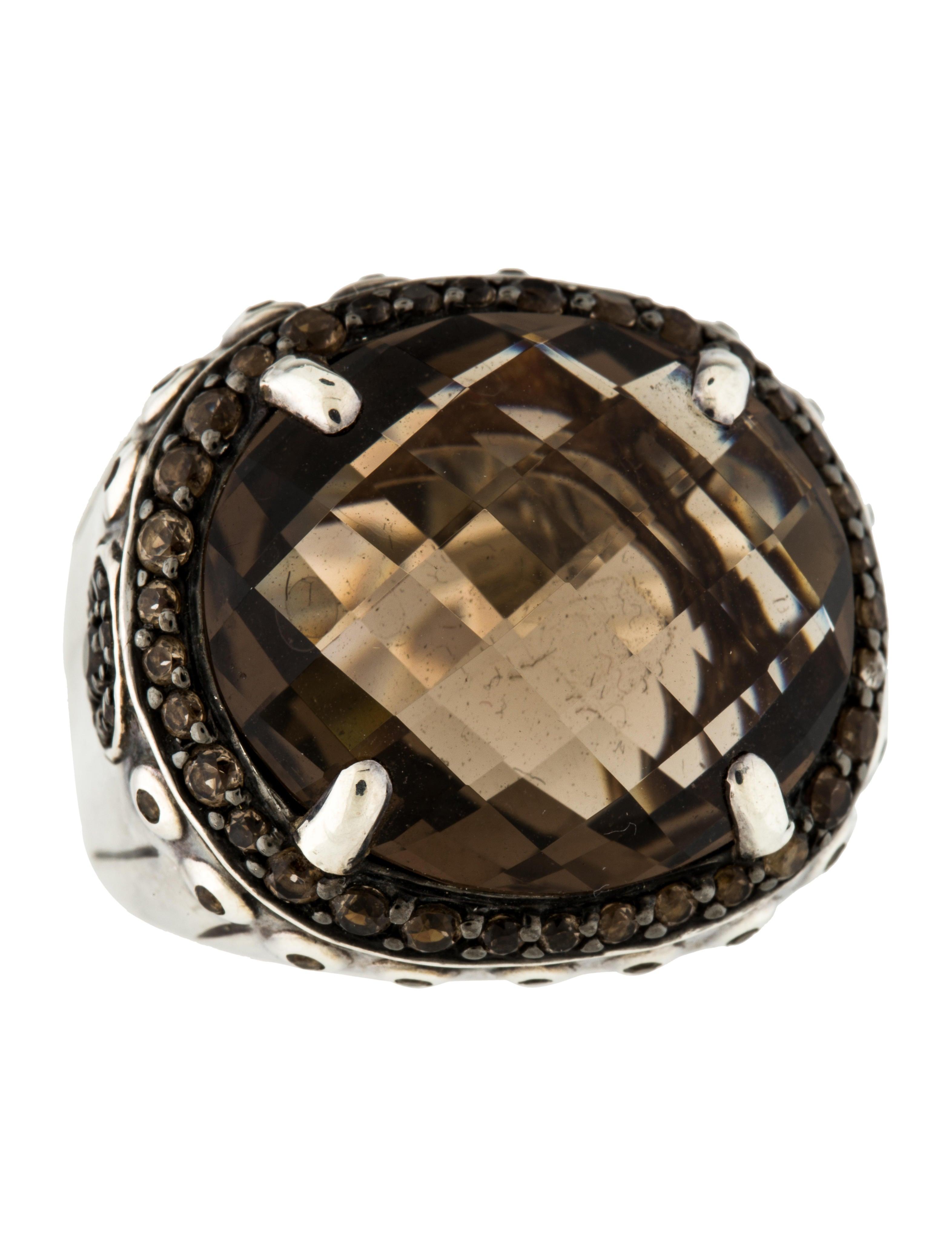 John Hardy Smoky Quartz Batu Bamboo Ring Rings