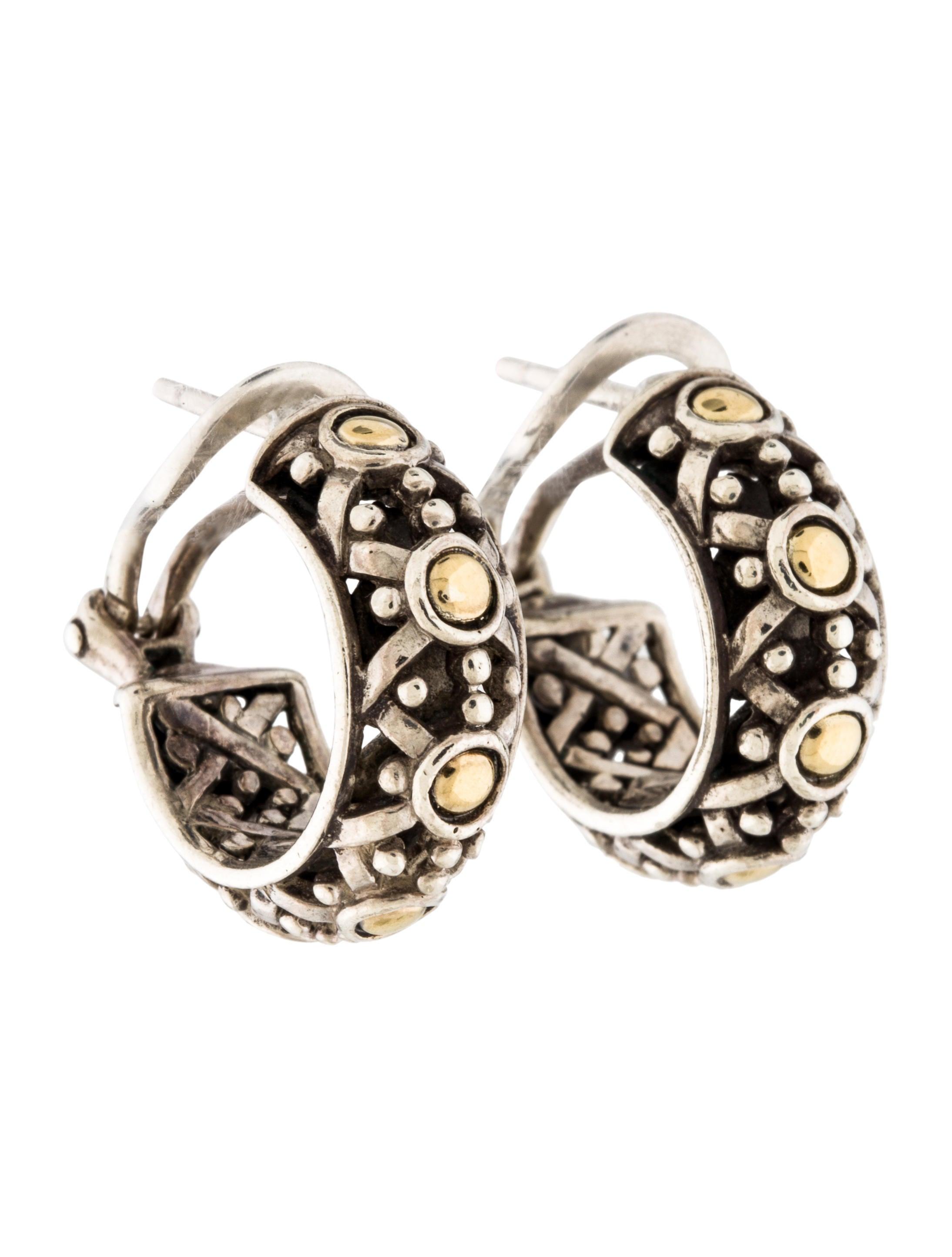 John hardy two tone hoop earrings earrings jha27146 for John hardy jewelry earrings