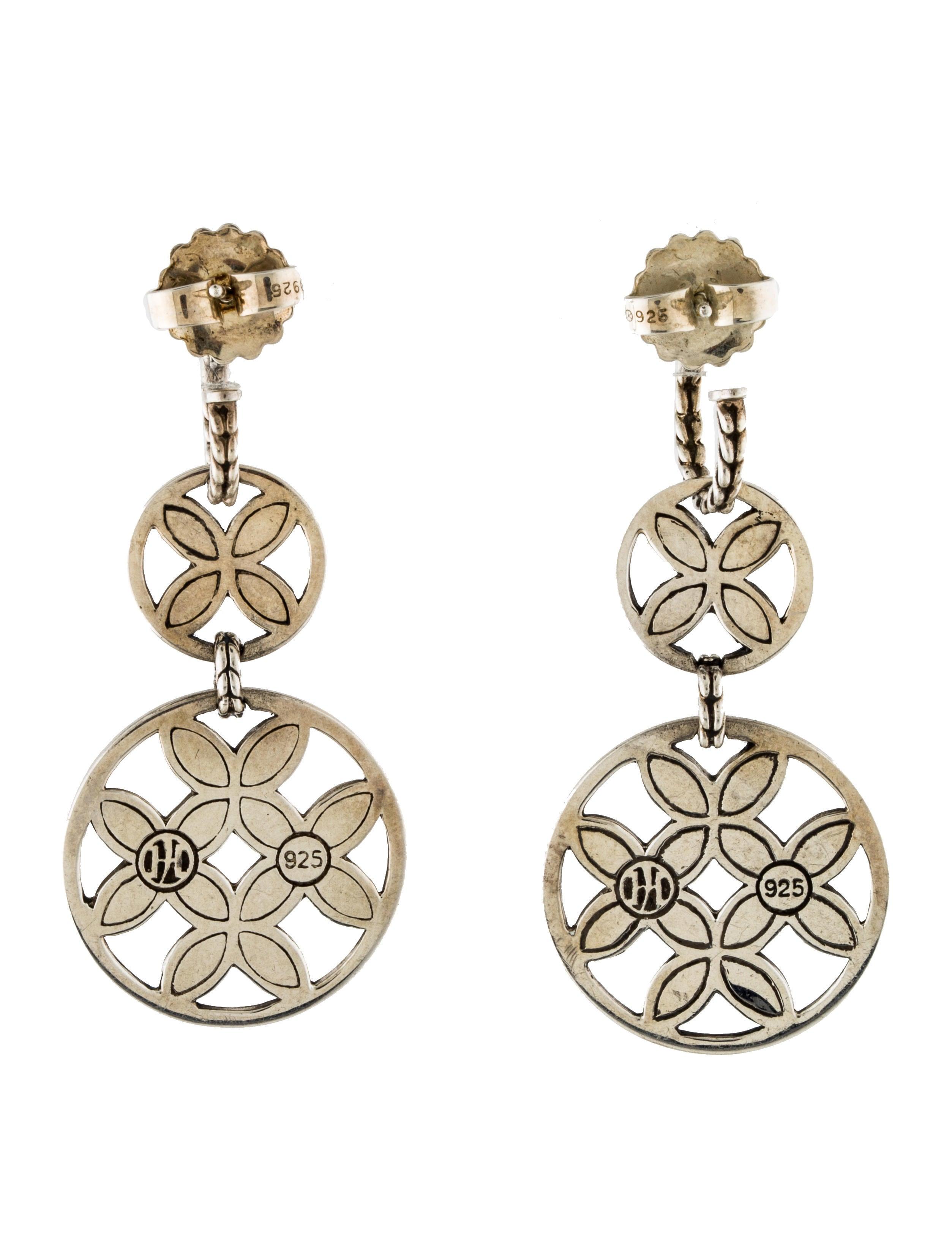 John hardy batu kawung drop earrings earrings jha27215 for John hardy jewelry earrings