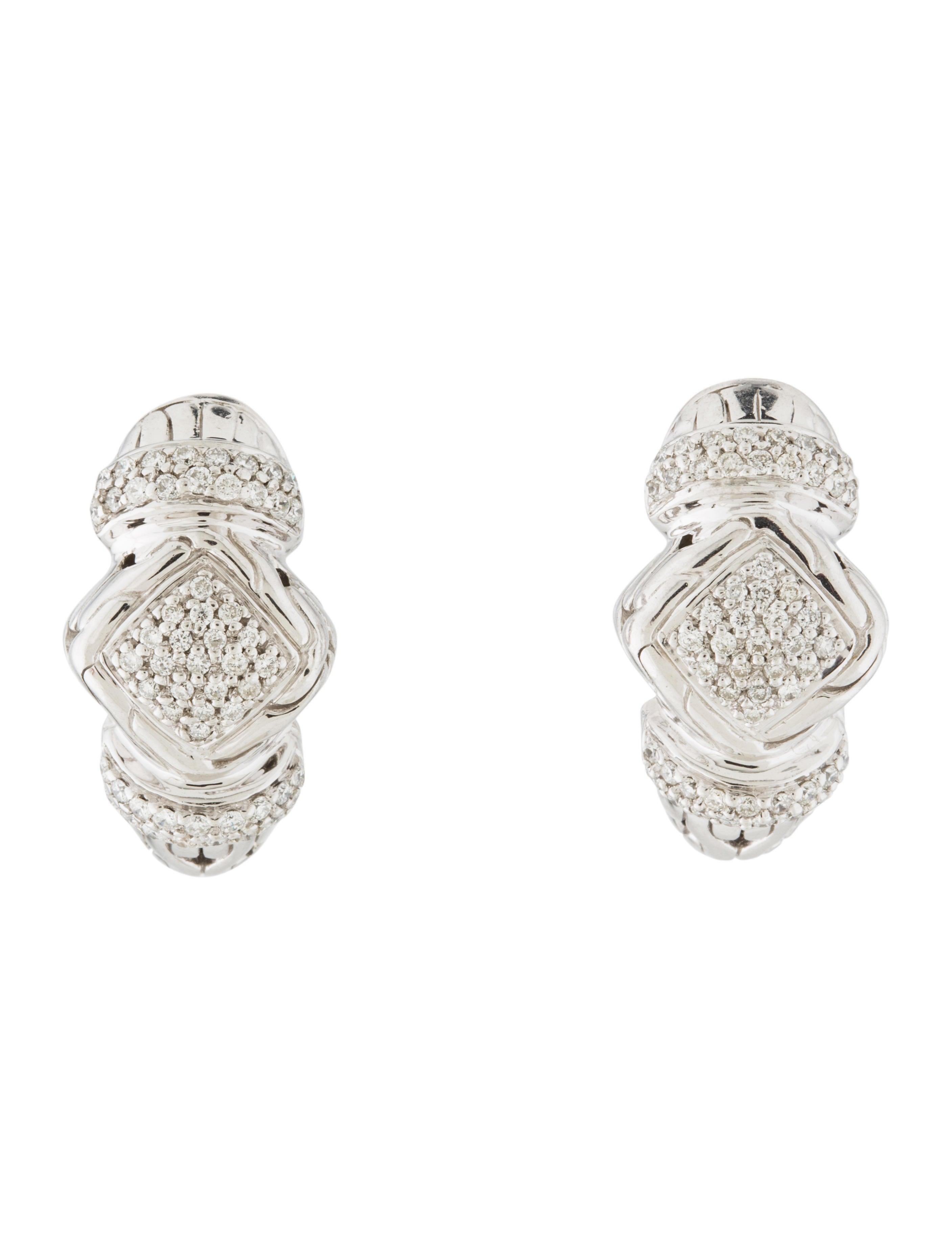 John hardy diamond hoop earrings earrings jha27281 for John hardy jewelry earrings