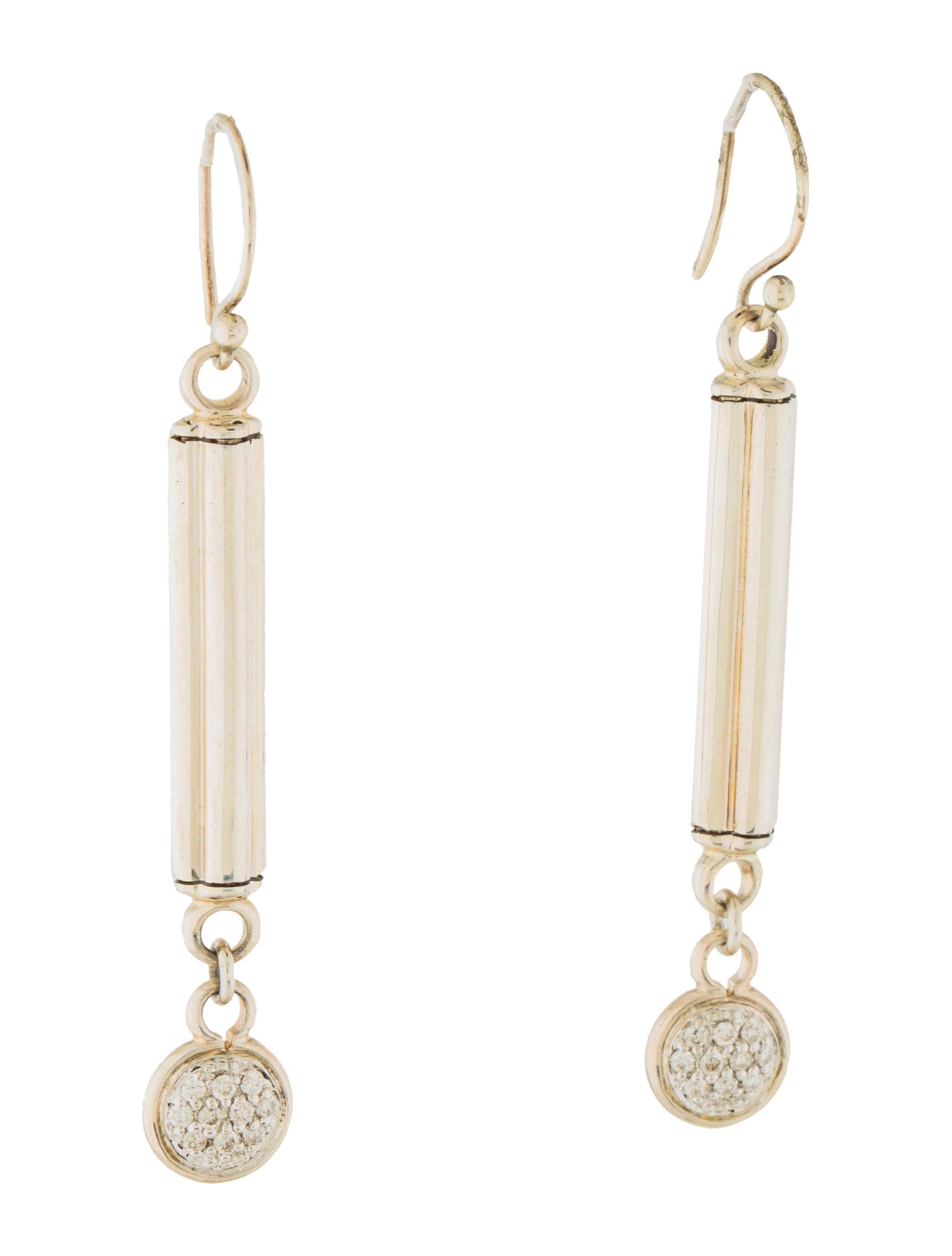 John hardy diamond drop earrings earrings jha27353 for John hardy jewelry earrings