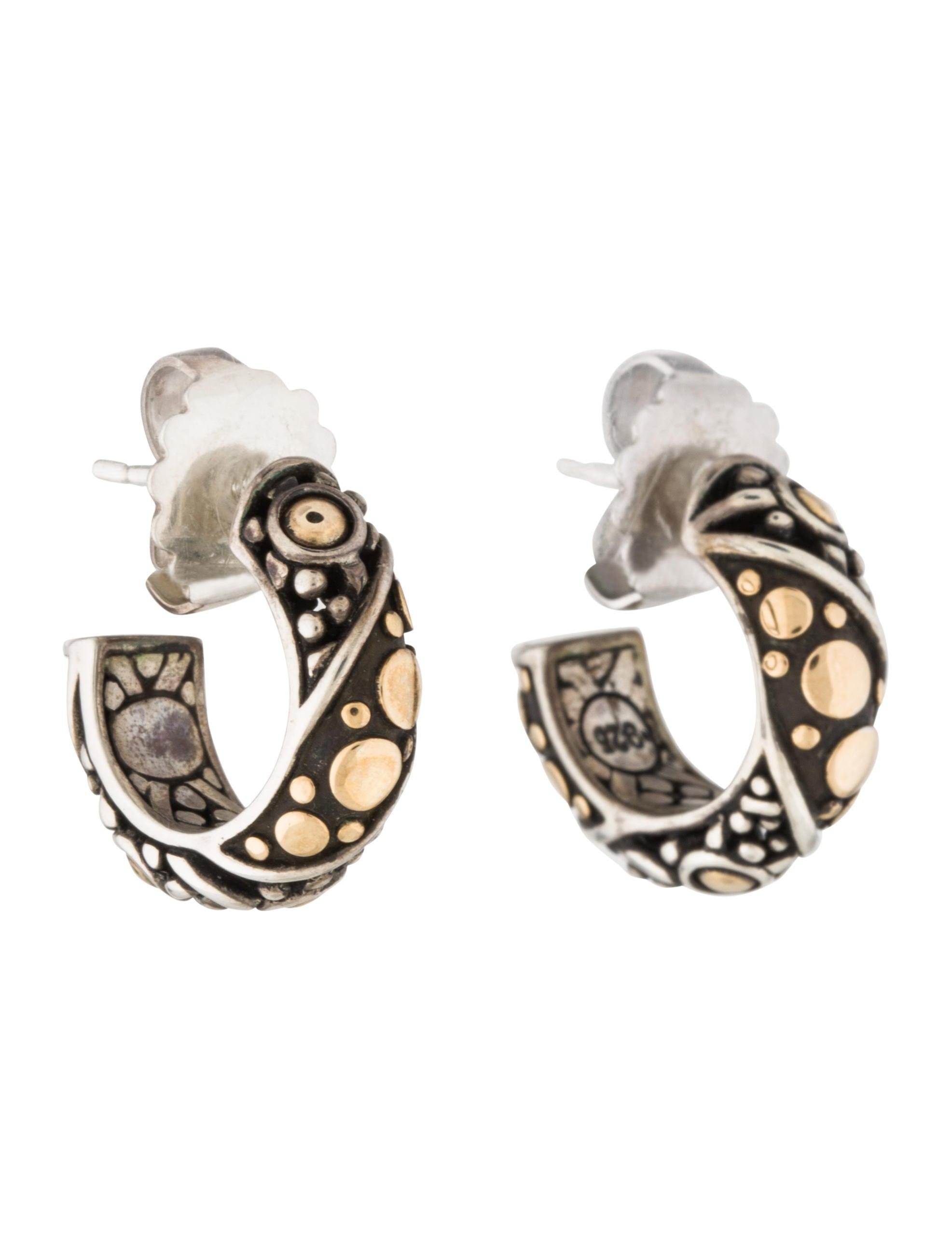 John hardy dot jaisalmer hoop earrings earrings for John hardy jewelry earrings
