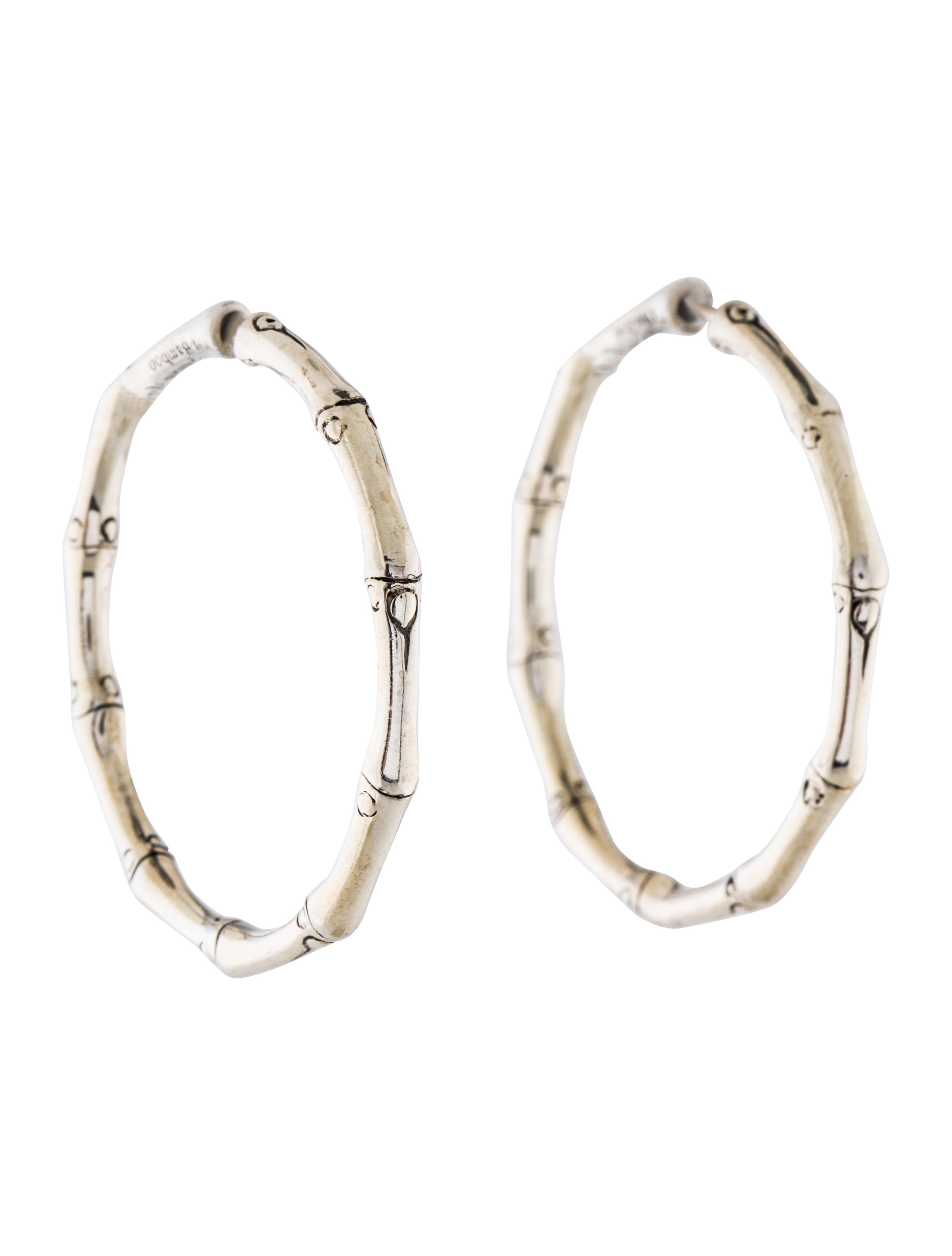 John hardy bamboo medium hoop earrings earrings for John hardy jewelry earrings
